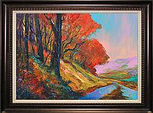 Michael Scholfield Original on canvas New England