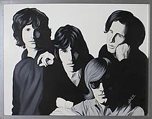 Hector Monroy Original Oil The Doors