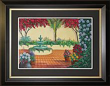 William Blackman Original Oil The Patio