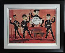 Tatel-Limited Edition Lithograph Hand Signed-Beatles