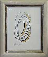 Tashchyan Yellow Swirls Original Chalk on paper 18x24