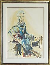 Dorothy Harkinson Original Woman with Baby 26x30