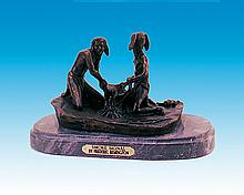 Frederic Remington Smoke Signal Bronze Sculpture
