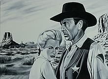 Monroy Original Oil High Noon Movie Gary Cooper Grace