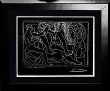 Pablo Picasso-Limited Edition Giclee Drawing en Verso