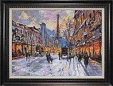 Michael Schofield-Original Mixed Media-Downtown Paris