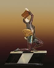 Chiparus Bronze Sculpture Fan Dancer