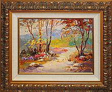 Rustic Path by Rafael Original Oil on Canvas