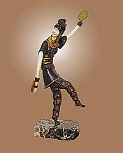 Chiparus Bronze Sculpture Russian Dancer