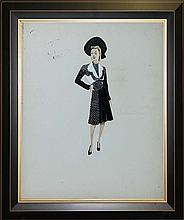 Original Fashion Illustration done in 1940s