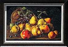 Luis Melendez-Ltd Ed-Still Life with Pears Grapes