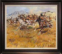 C M Russell Fight with Blackfeet Limited Edition