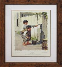 Norman Rockwell Collotype Tom Sawyer
