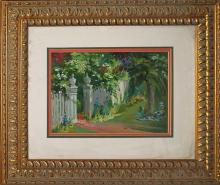 Lara-Original Oil Painting-Garden Gate