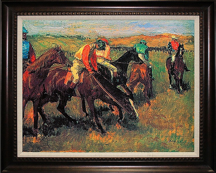 Edgar Degas-Limited Edition Giclee-Avant La Course