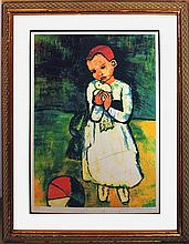 Pablo Picasso-Limited Edition Child Holding Dove