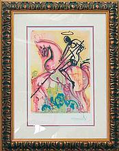 Salvador Dali-Ltd Ed Lithograph-St. George & the Dragon