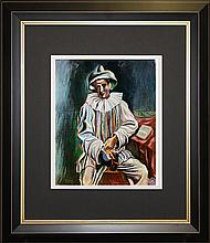 Pablo Picasso-Limited Edition Pierrot Sitting
