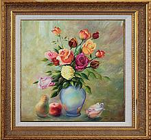 Arina Original Oil Rose Bouquet