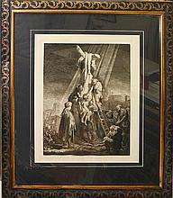 Rembrandt Durant-Etching-Christ Descent from Cross