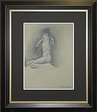 Original Graphite on Paper by GGray -Nude Study