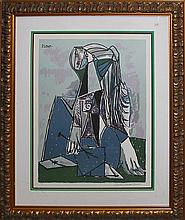 Pablo Picasso-The Thinker Limited Edition Lithograph