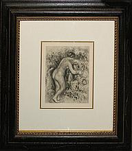 Pierre Renoir-Etching- Lady Dressing
