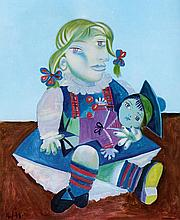 Pablo Picasso--Limited Edition Maia with Doll