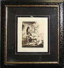 Rembrandt-Etching-The Good Samaritan