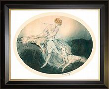 Louis Icart-Limited Edition Giclee Friends-Les Pals