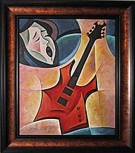 Zinovy Shersher Original Oil In Tune