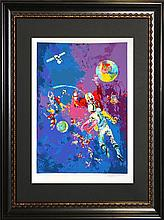 Leroy Neiman Serigraph Satellite Football