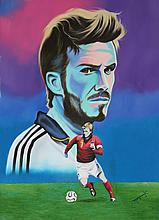 Hector Monroy Original Oil David Beckham