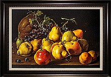 Luis Melendez-Limited Ed Giclee-Stillife with Pears