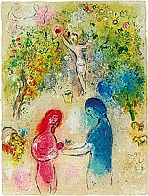 Marc Chagall Daphne and Chloe Lithograph