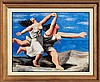 Pablo Picasso-Limited Ed Two Women Running on Beach