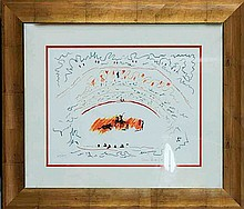 Pablo Picasso-Limited Edition Lithograph-Bullfight