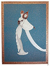 Erte Limited Edition Serigraph Blue Tanagra