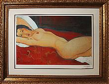 Modigliani Limited Edition Giclee Reclining Nude Lithograph