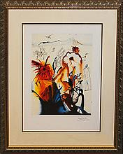 Salvador Dali Diamond Head hand signed Lithograph