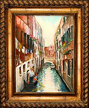 Rafael Venice Canal View Original Oil on Canvas