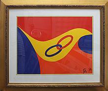 Alexander Calder Original Lithograph Rings