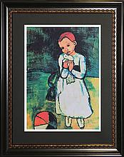 Pablo Picasso-Limited Edition Lithograph-Child Holding