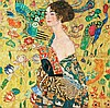 Gustav Klimt Embellished Limited Ed Giclee Woman with Basket