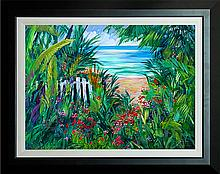 Michael Schofield Original Oil Paradise Found