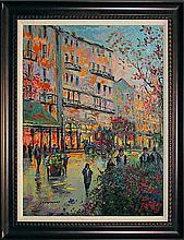 Michael Schofield Mixed Media Original Winter Parisian Street