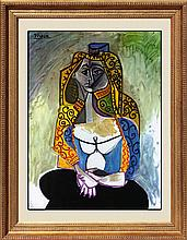 Pablo Picasso-The Turkish Shawl