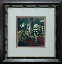 Salvador Dali hand signed lithograph.