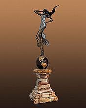Schofield Exquisite Alexandrite & Bronze Sculpture