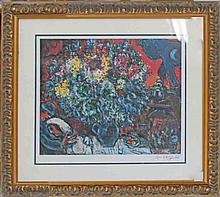 Marc Chagall-Limited Edition -Bouquet of Flowers